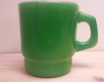 Kelley Green FIRE KING Milk Glass Awesome Condition MUG Cup