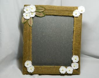 Burlap Covered Picture Frame