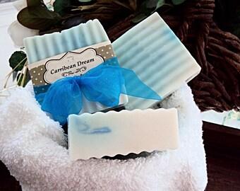Caribbean Dream Goats Milk Soap, Handmade Soap, Tropical Soap, Blue Soap, Goats Milk, Moisturizing Soap, Soap bar