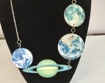 Moons and Planet Necklace