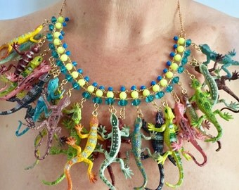 Leaping Lizards! Necklace