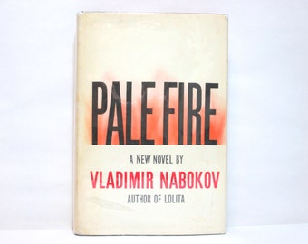 Pale Fire by Vladimir Nabokov 1962 Vintage Hardcover Book + Dust Jacket * Third Printing