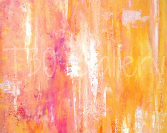 Digital Download - Girl's Night Out, Pink and Orange Abstract Artwork