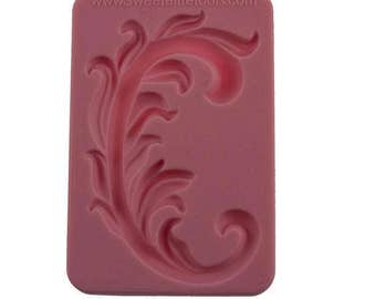 Floral Flourish Silicone Mold for fondant and gumpaste cake decorating by Sweet Elite Tools