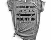 Funny Womens Shirts. Regulators Mount Up MINIVAN Tee. Gift for Women. Fashion Gifts. Gift Ideas for Moms. Funny Mom quotes.