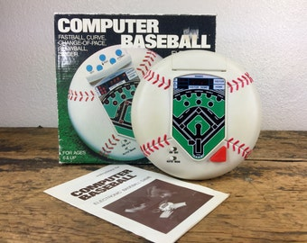 Vintage Electronic Baseball Game 2 Player Original Box and Instructions