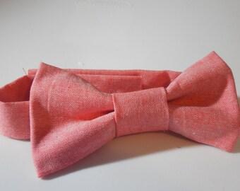 Creamsicle Adjustable Bow Tie