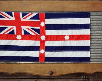Handmade Murray River Combined Style Flag Vintage 1900s Double Sided Ready to Fly