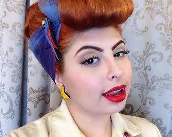 GLITTERY BANANA Custom Laser Cut and Engraved Bar Earrings Mirror Acrylic