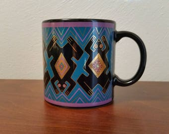 Folkloric Frogs Mug - Laurel Burch