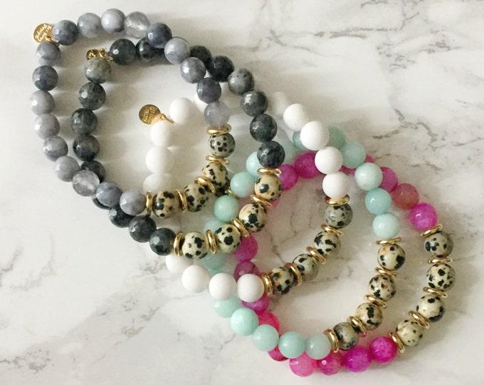 Speckled Stretch Bead Bracelet