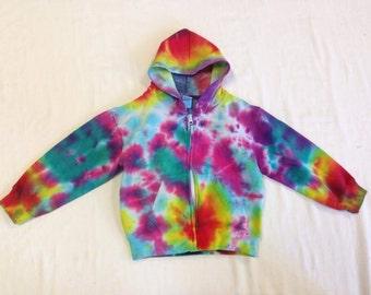 Funky Tie Dye Kids Zip Up Jacket  size 5/6 K152