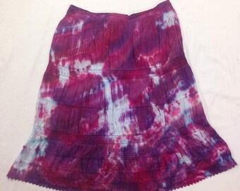 Funky Tie Dye misses Skirt size Large W264