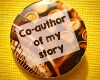 Typewriter Author pinback button Writer badge writing magnet relationship patch inspiring pins storyteller quote gift for author writer