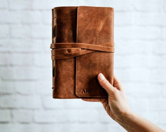 Leather Travel Journal Notebook Travelers Notebook Leather Journal