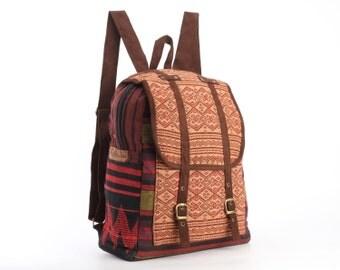 Ethnic Backpack Naga Tribal Hand Woven Asian Traditional Native Handmade