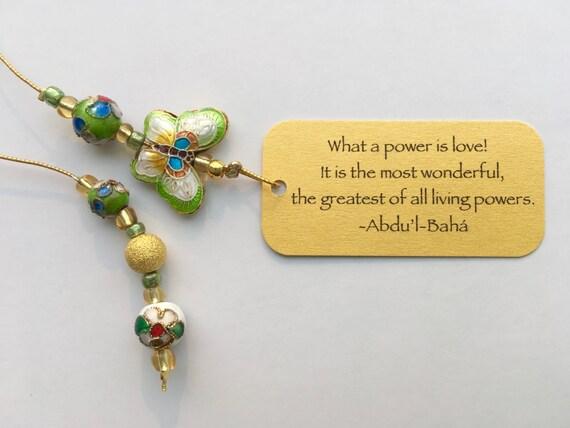 Beaded Bookmark | Butterfly Bliss cloisonné beaded bookmark