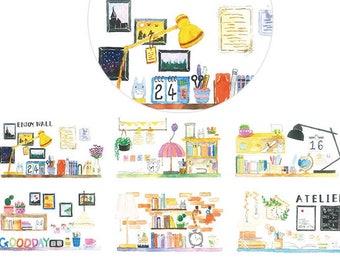 1 Roll Limited Edition Washi  Tape: My Desks