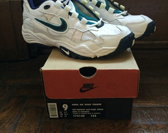 vintage nike womens air worp trainer size 9