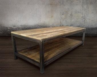 Reclaimed Wood Coffee Table, Industrial