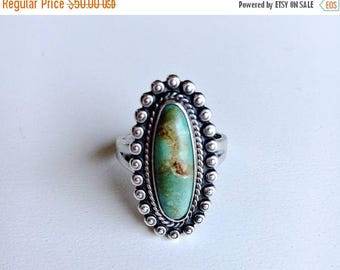 Anniversary sale Vintage Bell Trading Post Turquoise and Sterling silver ring size 5