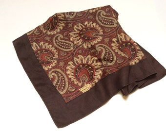 Vintage Liberty of London Silk Scarf, Liberty Paisley Scarf, Brown Liberty Scarf, Excellent Condition, 1980s