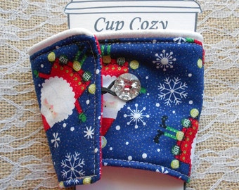 Santa Clause Christmas Coffee Tea Cup Cozy