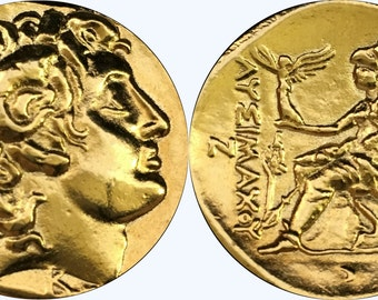 Alexander the Great and Athena Goddess of Wisdom,  Minted by His Friend & Bodyguard,  Lysimachos, (34-G)