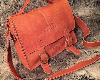 Elk Hide Messenger Bag