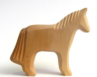 Wooden Horse, Wooden Animal, Farm, Wooden Toys, Carved Horse, Waldorf Toy, Woodcarving, Natural Toy