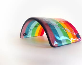 Fused Glass Rainbow Bridge