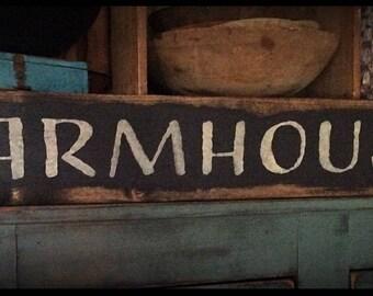 Grubby prim sign-FARMHOUSE