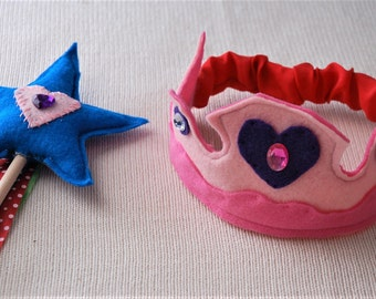 Fairy Princess Crown and Wand Set.
