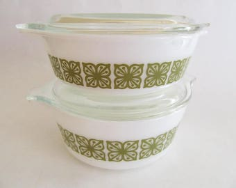 Pyrex Verde Dishes