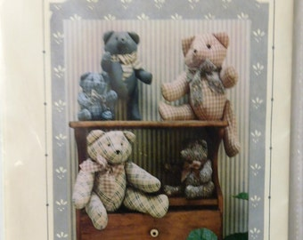 Cotton Ginny's Country Bears  Sewing Pattern Uncut 1990 print