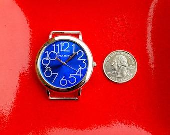Blue Narmi Watch, Blue Narmi Watch, Big Narmi Watch Face Piece