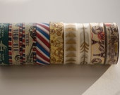 You Choose - 1 Roll of Washi Tape -Paper/Scrapbook Washi Tape -Decor Tape -Packing Supplies -15mmx10m Airmail Steampunk Postmark Paris Arrow