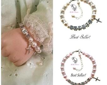 Christening Gifts ~ Baptism Gift ~ Baby Baptism Bracelets ~ Baptism Bracelet ~ Baby Gift ~ Baby Shower ~ Personalized Baby Gift ~ Keepsake