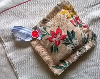 Vintage fabric lavender filled sachet