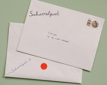 Personal Letter, Handwritten, Dutch text, goodies, whimsical mail, local happiness, snailmail, perception