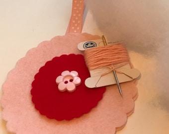 Felt 'sew your own' flower kits.