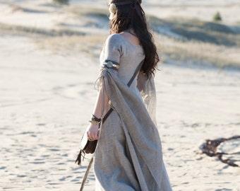 "Fantasy Tunic ""Labyrinth""; flax dress; linen dress; medieval costume"