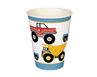 Big Rig Party Cup - Construction party boys childrens birthday truck