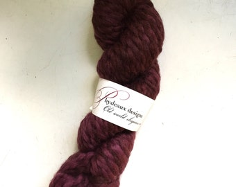 45% Off Super Bulky Phydeaux Designs Crepe Wool Yarn Hand Dyed Merlot 4 oz 70 yards