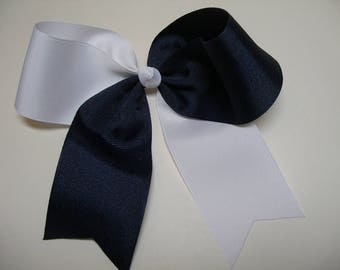 CHEER Bow Two Tone Navy and White School Uniform Classic Style