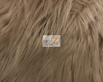 """Solid Shaggy Faux Fur Fabric - COCOA - Sold By The Yard 60"""" Width Costumes Accessories Clothing"""