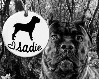 Cane Corso Necklace   Cane Corso Jewelry   Dog Lover Gift   Personalized Dog Necklace   Personalized Gifts   Korena Loves
