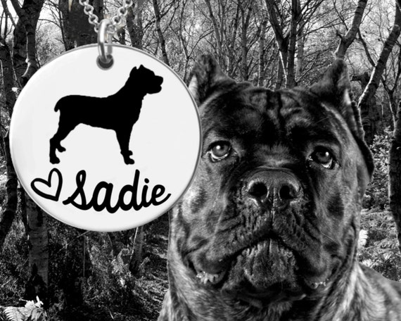 Cane Corso Necklace | Cane Corso Jewelry | Personalized Dog Necklace | Personalized Gifts | Korena Loves