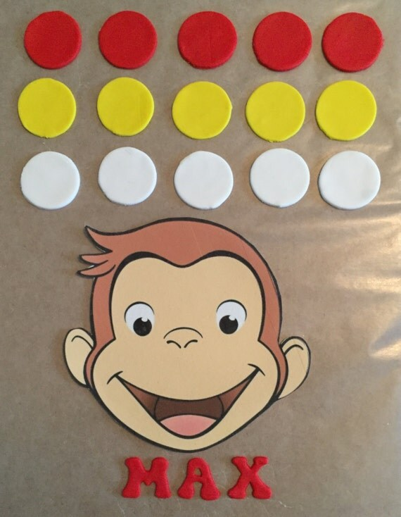 Curious George Cake Decorating Kit : Ready -to- Ship Curious George Cake Decorating Kit from ...