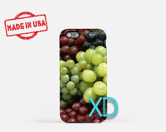Grape iPhone Case, Fruit iPhone Case, Grape iPhone 8 Case, iPhone 6s Case, iPhone 7 Case, Phone Case, iPhone X Case, SE Case Protective